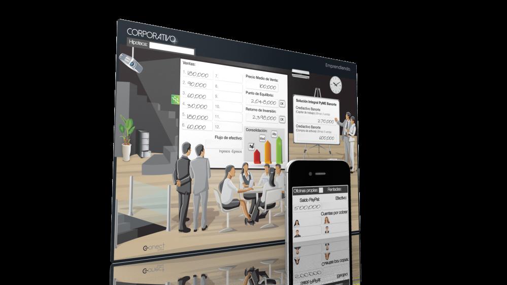 Tableta Corporativo Simulador de negocios Emprendiendo versión Conect