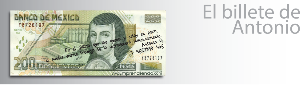 El billete de Antonio