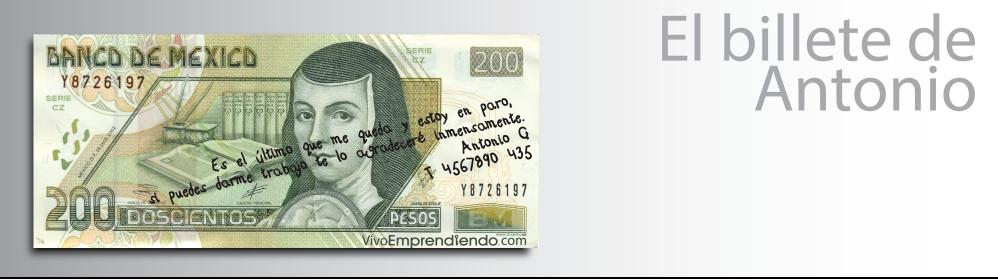 El billete de Antonio