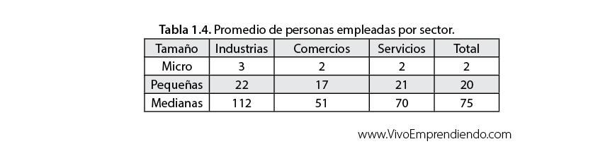Estadísticas de las empresas en México