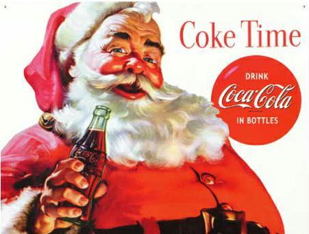 Santa coca cola